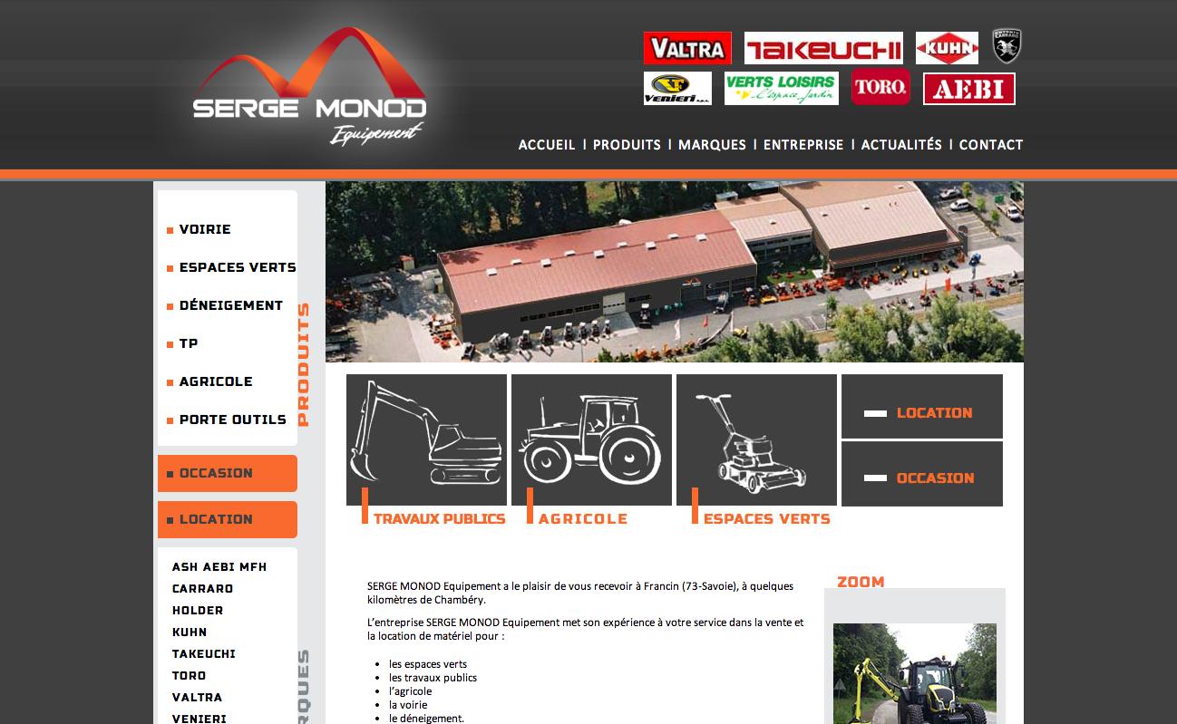 Site de Serge Monod Equipement