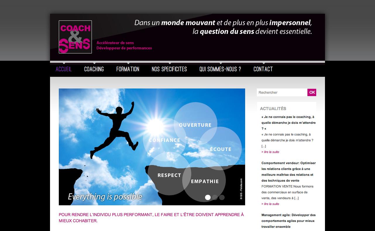 Site de Coach & Sens