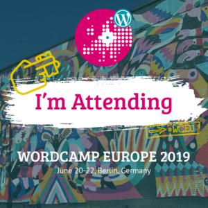 WCEU 2019 I'm attending